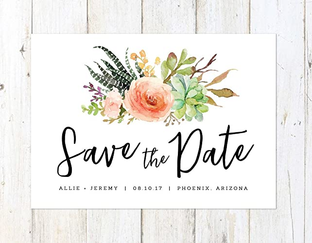 Wedding Save The Dates.Amazon Com Succulent Save The Date Desert Save The Date