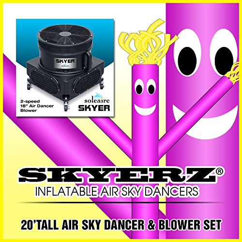 [20ft Purple Skyer Wacky Waving Inflatable Fly Sky Guy Puppet Advertising Dancing Tube Includes 1hp Skyer] (Inflatable Wacky Waving Tube Man)