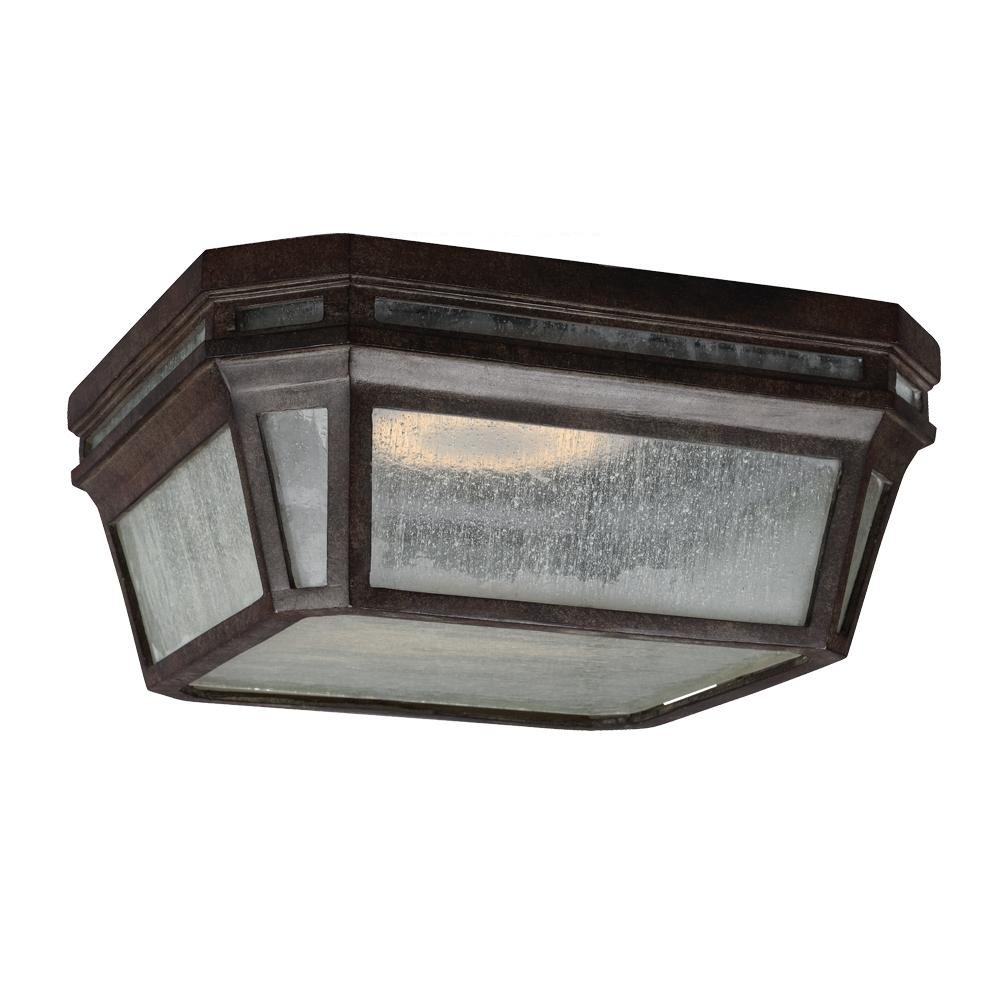 Feiss OL11313WCT-LED Londontowne LED Weathered Chestnut Outdoor Flush Mount by Feiss