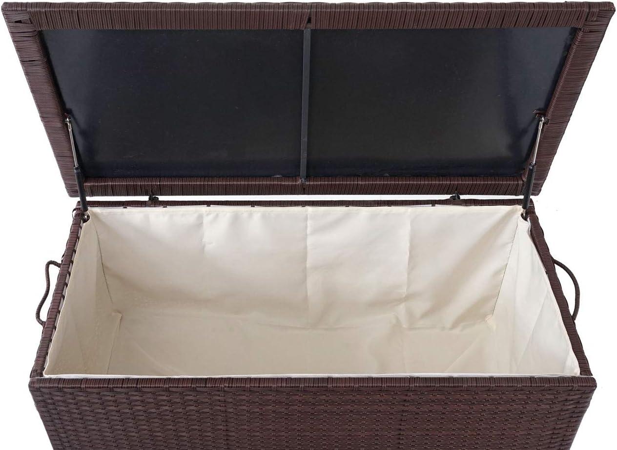 Mendler Baule Contenitore da Esterno HWC-D88 polyrattan ~ Premium 320l Marrone