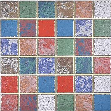 Carrelage Mosaique En Ceramique Multicolore Retro Retro