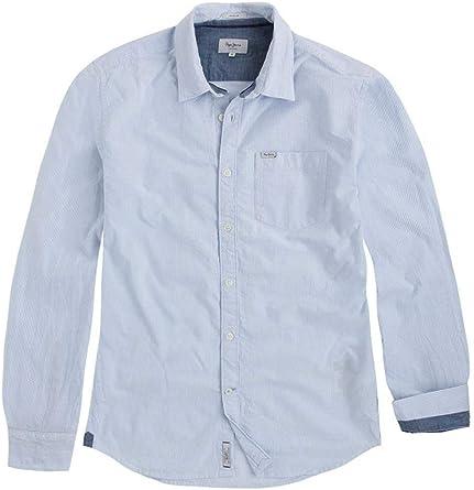 Pepe Jeans Camisa Roger Azul Hombre XS Azul: Amazon.es: Ropa y accesorios