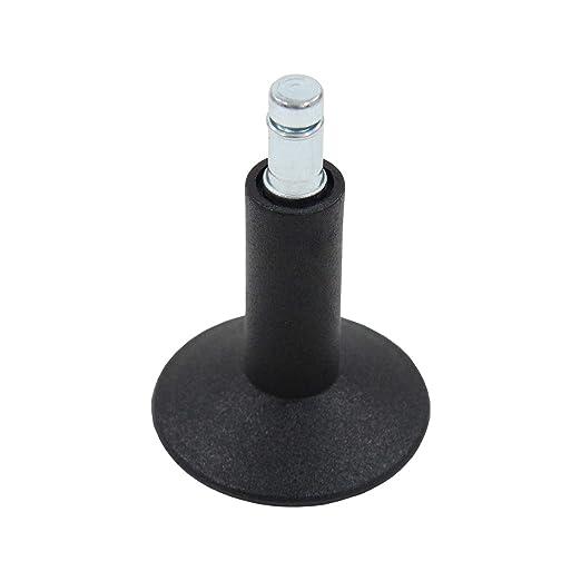 hjh OFFICE Air-Port Ruedas para sillas, Negro, 11 mm, 65 mm