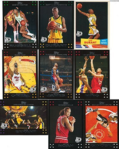 Topps NBA Basketball 2007 2008 Master Set with 2 Kevin Durant Rookies and Variations and - Basketball 2007 2008 Cards Trading