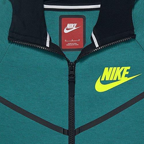 Nike Sportswear Tech Fleece Windrunner Big Kids (Boys) Hoodie (Medium, Heather/Black/Cool Grey) by NIKE