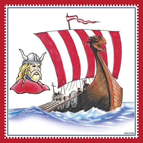 Norwegian Viking Ship Decorative Wall Tile