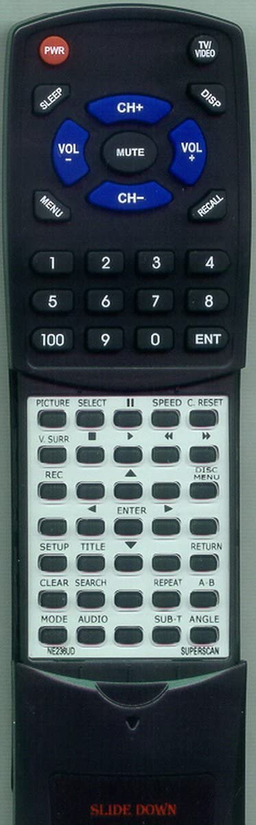NE236UD Replacement Remote Control for SUPERSCAN SSF420TR