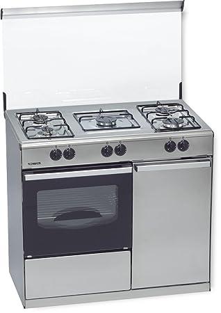 ROMMER VP 5 INOX PB Independiente Encimera de gas Acero inoxidable - Cocina (Cocina independiente, Acero inoxidable, Giratorio, Frente, Encimera de ...