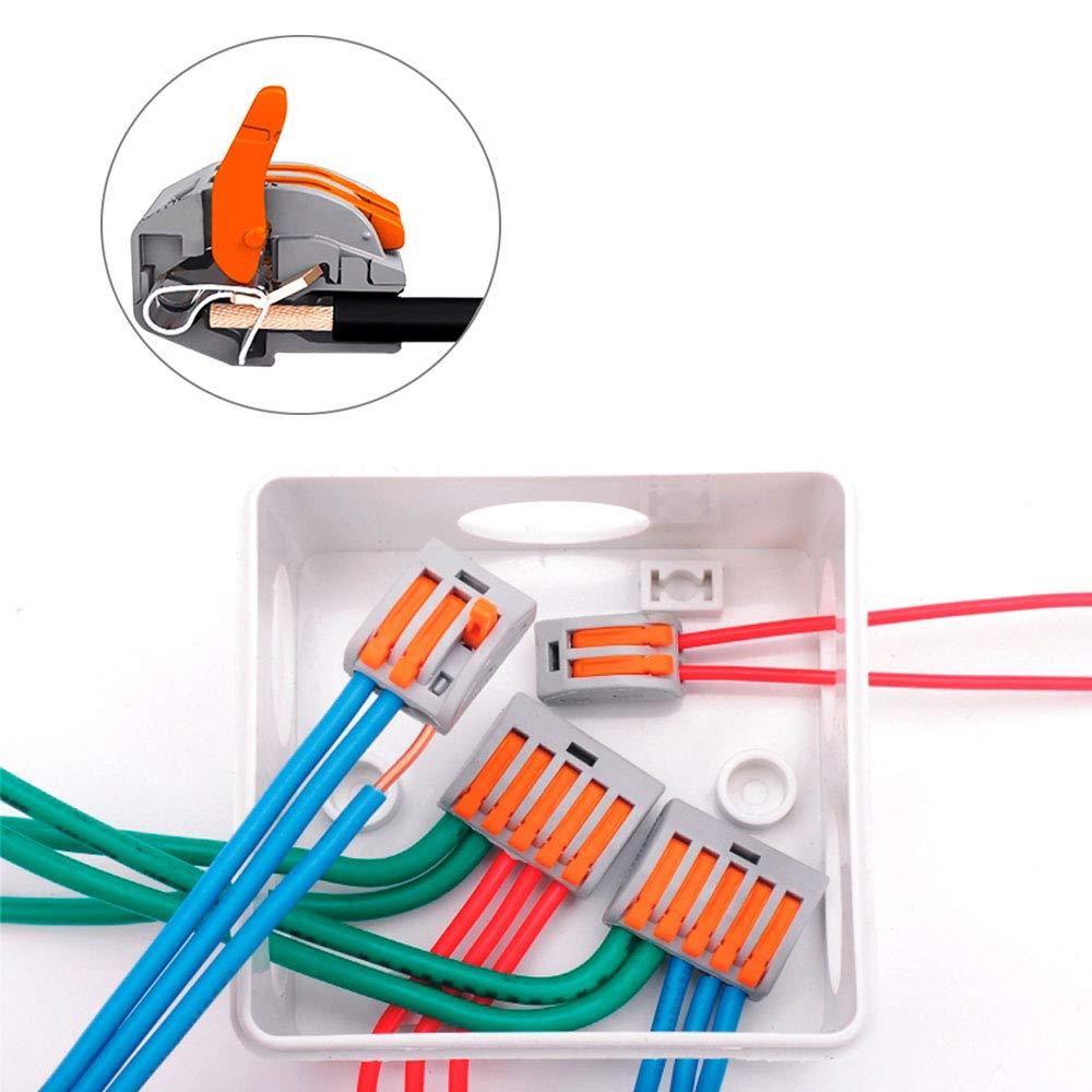 R/ápido Cable Conector Bloque Terminal 2 Puertos FULARR 30Pcs Premium PCT-212 Resorte Conector Bloque Terminal Conector Conductor Compacto
