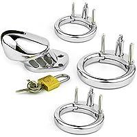 SuxHeart-EUR Cerradura de juguete de metal hipoalergénico de acero inoxidable (tres anillos).