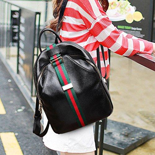 Lady Cire Fashion Lady Huile Sacs Retro A Rucksack Sac B Dos Loisirs Couleur à qCfwXXSnE