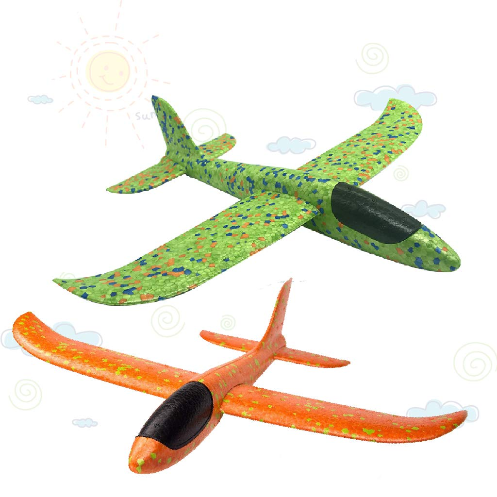 LOFEE Airplane Model Material for Boy,Light Model Plane Multi-Color Manual for 7.8.9 Year Old Toddler,Creative Gifts for Boy Girl Birthday Christmas Children's Day