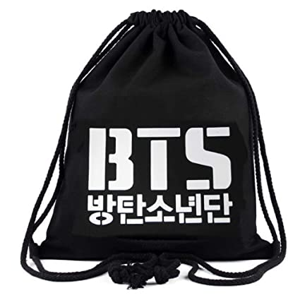 Amazon.com  Kpop BTS Bangtan Boys Drawstring Bags BTS Logo Backpack ...