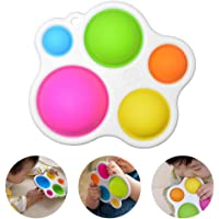 Baby Sensory Toys, Best Learning Dimpl Toys Gifts Silicone Fat Brain Toy for Toddlers Ages 1~3 Years Old Infants…