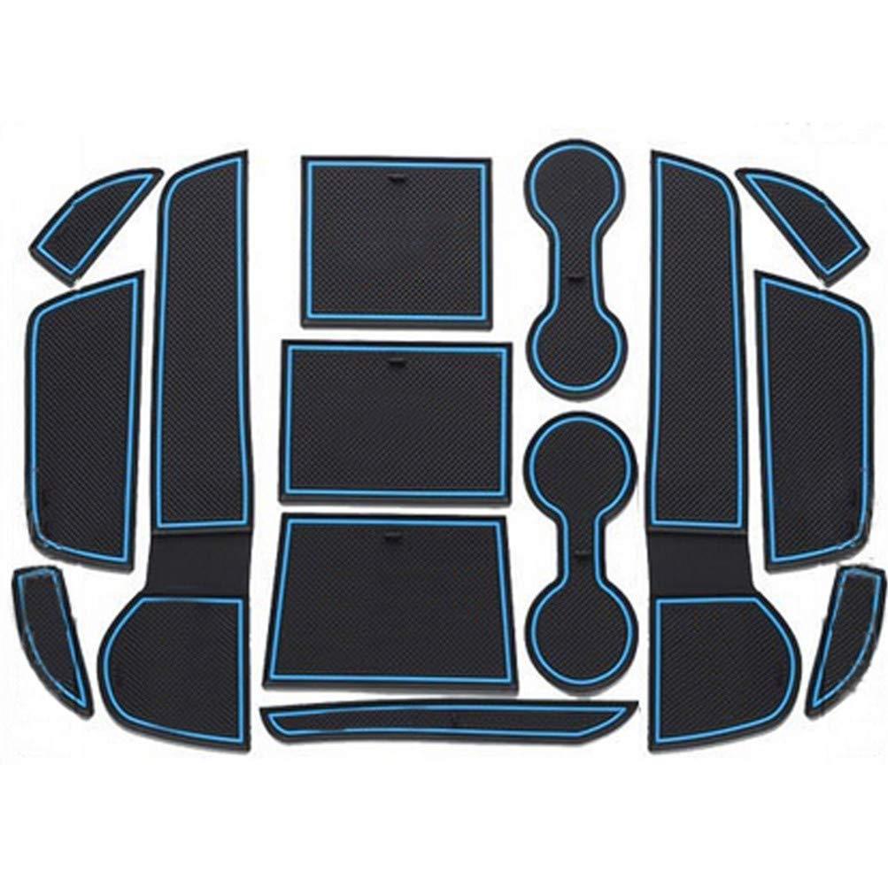 Wei/ß Maiqiken Rutschfest Auto Innere T/ürschlitz Arm Box Aufbewahrung Matten Pads Passt f/ür Outlander 2013-2016 Anti-Staub Tor-Schlitz-Auflage Schalen-Matte