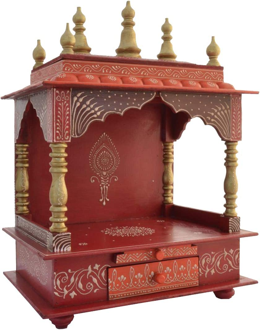 Makan Rosewood Beautiful Wooden Temple//Pooja Mandir for Office /& Home//Wooden Temple//Home Temple//Pooja Mandir//Temple for Home//Office Temple//Navratre//Diwali Festive Season Gifts and puja