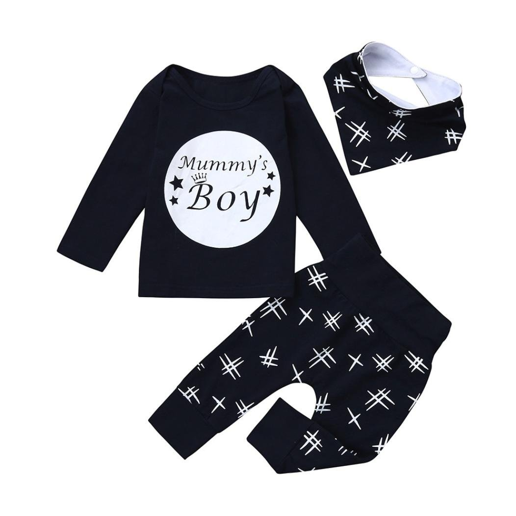 Janly/® Mommys little Valentine Romper Tops with Pants Hat Baby Toddler Heart Prints Clothes Set For 0-18 Months Boys Outfits