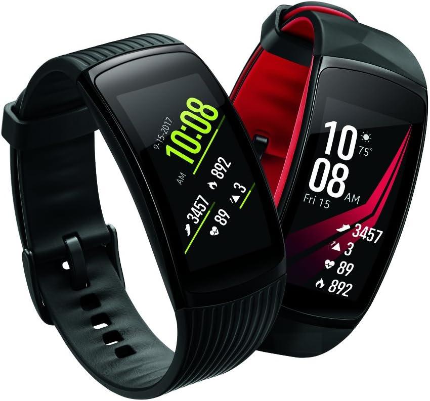 Samsung Gear Fit2 Pro Smartwatch Fitness Band (Small), Liquid Black, SM-R365NZKNXAR – US Version with Warranty