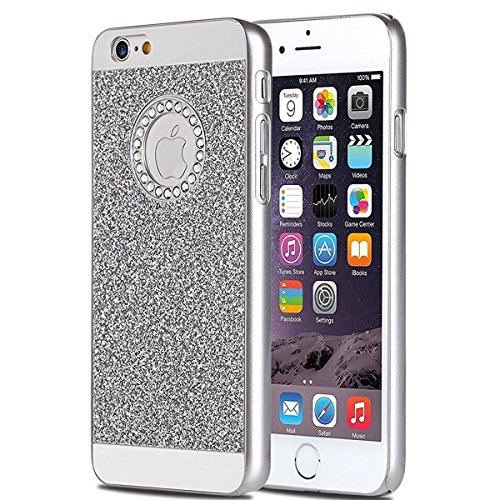 Hard Diamond Case Crystal Cover (PHEZEN iPhone 8 Plus Case,iPhone 7 Plus Bling Case, Luxury Hybrid Beauty Crystal Rhinestone With Sparkle Glitter PC Hard Protective Diamond Case Cover for iPhone 8 Plus/7 Plus (Silver))