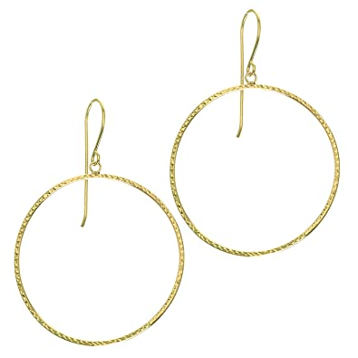 9fae5a92316ba Amazon.com: 14K Yellow Gold Star Diamond Cut Round Shaped Open Drop ...