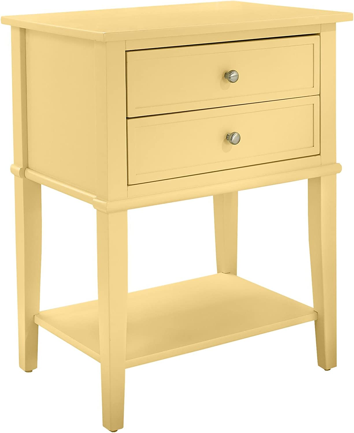 Ameriwood Home Franklin Accent Table 2 Drawers, Yellow