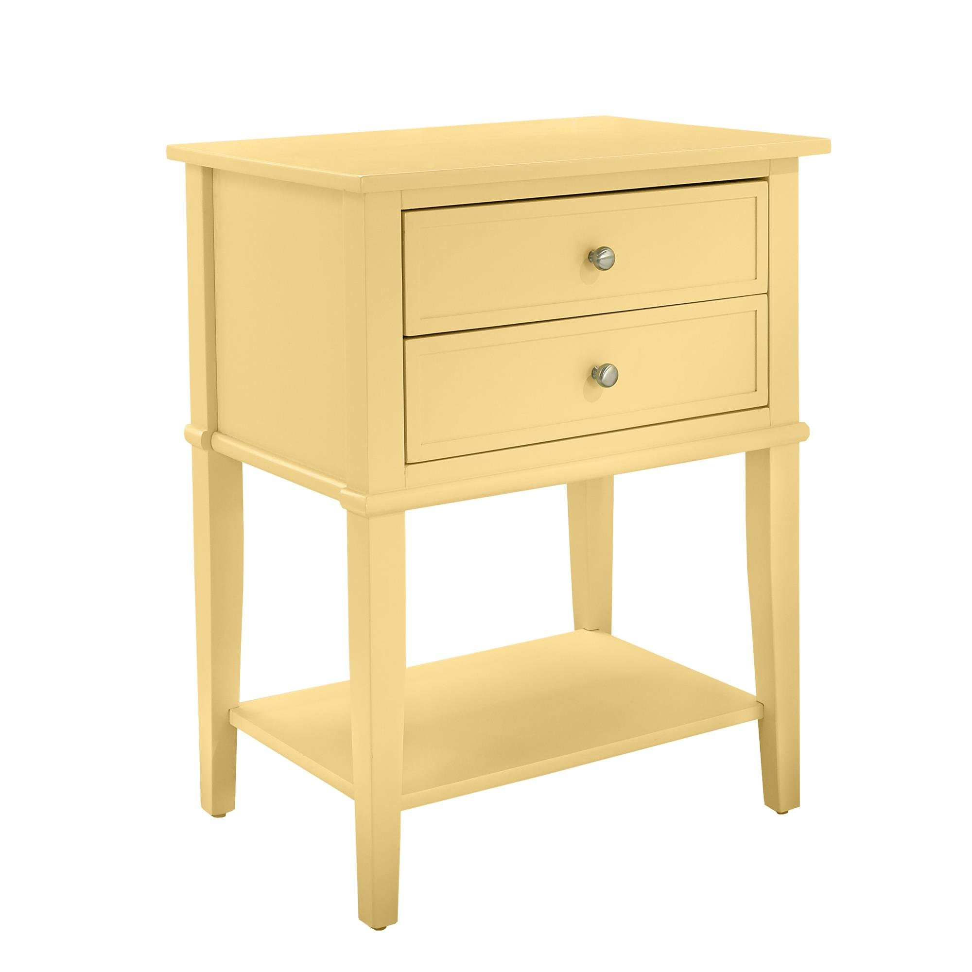 Ameriwood Home 5062496COM Franklin Accent Table 2 Drawers, Yellow