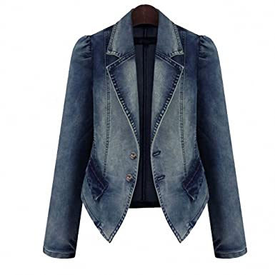 Women Denim Jacket Oversize Loose Female Jeans Coat Solid Slim Chaquetas Mujer Jaqueta Feminina denim color