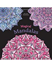 Magical Mandalas: Colour in and relax; a colouring book for adults with black background (stress reduction)