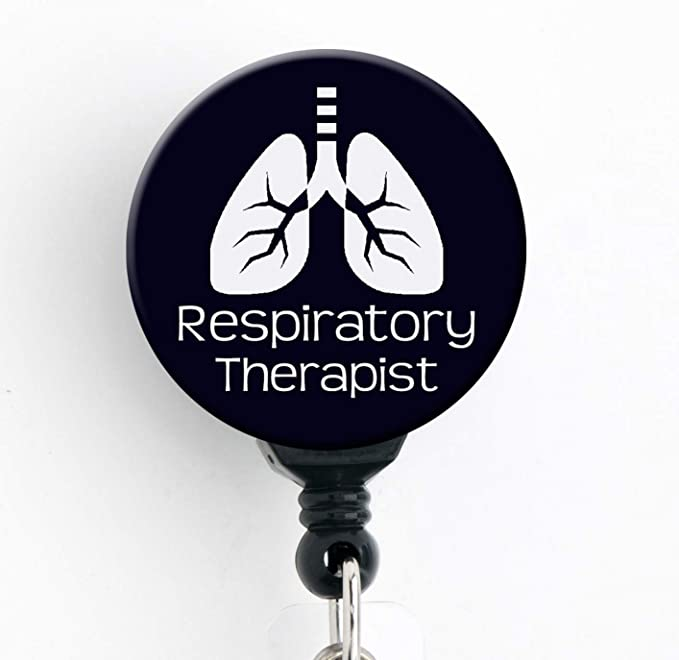 Respiratory Therapist ID Badge Reel ~ Personalized Name Badge Holder RRT Gifts