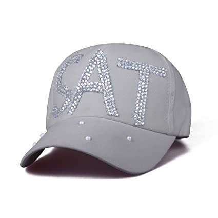 562f79a44100a Cozylkx SAT Baseball Cap Dad Hat Rhinestone Unisex Adjustable Snapback Hat