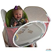 The Original Tray Buddi - Pink - It's a Playpen for High Chairs, Booster Seats, Strollers and Wheelchairs - It Keeps Baby Food, Sippy Cups and Toys on The Tray and Off The Floor