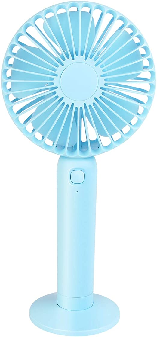 qui Mini desktop personal fan Handheld Mini Fan Portable Charger Mini Light with USB Rechargeable Detachable Base Travel Camping 3 Speed Rechargeable 1200 mAh Battery Strong wind in the home office
