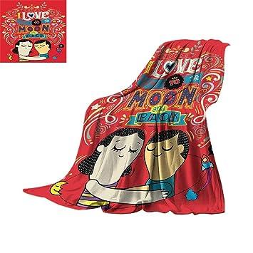 Amazon.com: RamonDecorFH I Love You, manta de forro polar ...