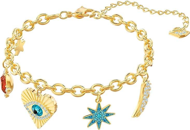 Amazon.com: SWAROVSKI Lucky Goddess Charms Bracelet, Multi-Colored ...