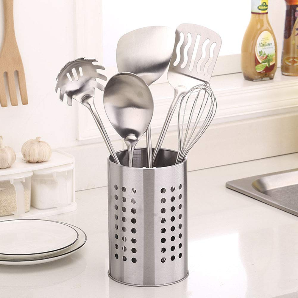 Scoop Spoon Bucket Chopsticks Fork Mounts Basket Kitchen Organizer Cutlery Tray Stand Silverware Storage Drain Rack Hihey Stainless Steel Kitchen Crockery Storage Holder