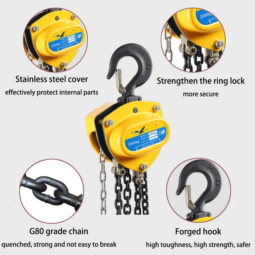 5 Ton Lifting Chain Hoist Manual Chain Block for 20 Ft Alloy Steel ...