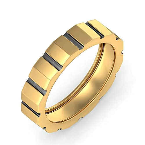 Anillos de boda para hombre 14 K oro blanco para hombre todos los tamaño M N O P Q R S T
