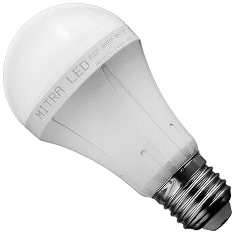 E27 LED Pera, 15 W=bombilla de 100 W blanco cálido 1200 lúmenes gota