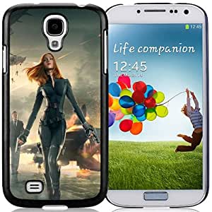 Fashionable Custom Designed Cover Case Samsung Galaxy S4 I9500 i337 M919 i545 r970 l720 With Captain America 2 Black Widow Phone Case Cover