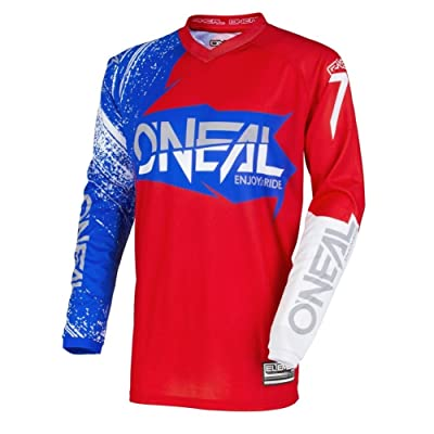 O'Neal Unisex-Adult Element Burnout Jersey (Red/White/Blue, X-Large): Automotive