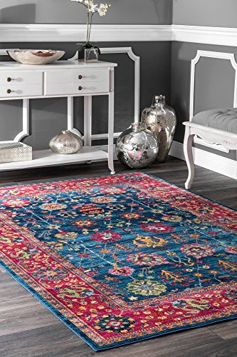 nuLOOM 200RZDR02A-71001010 Classic Tinted Floral Area Rug, 7' 10