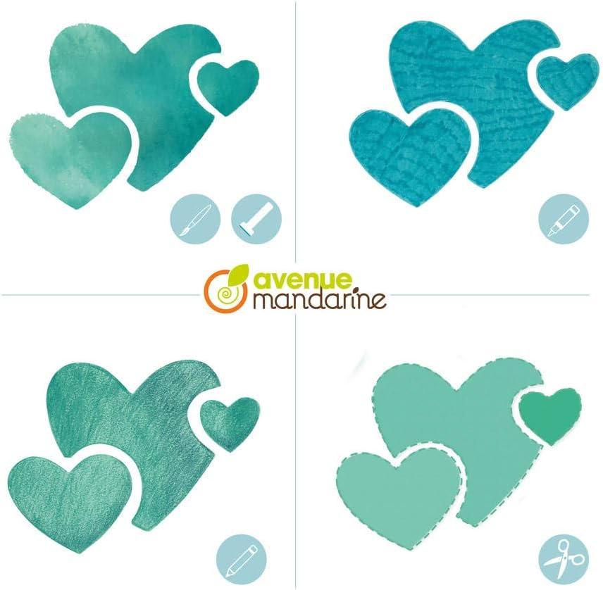 Set of 6 Avenue Mandarine Assorted Heart Stencils