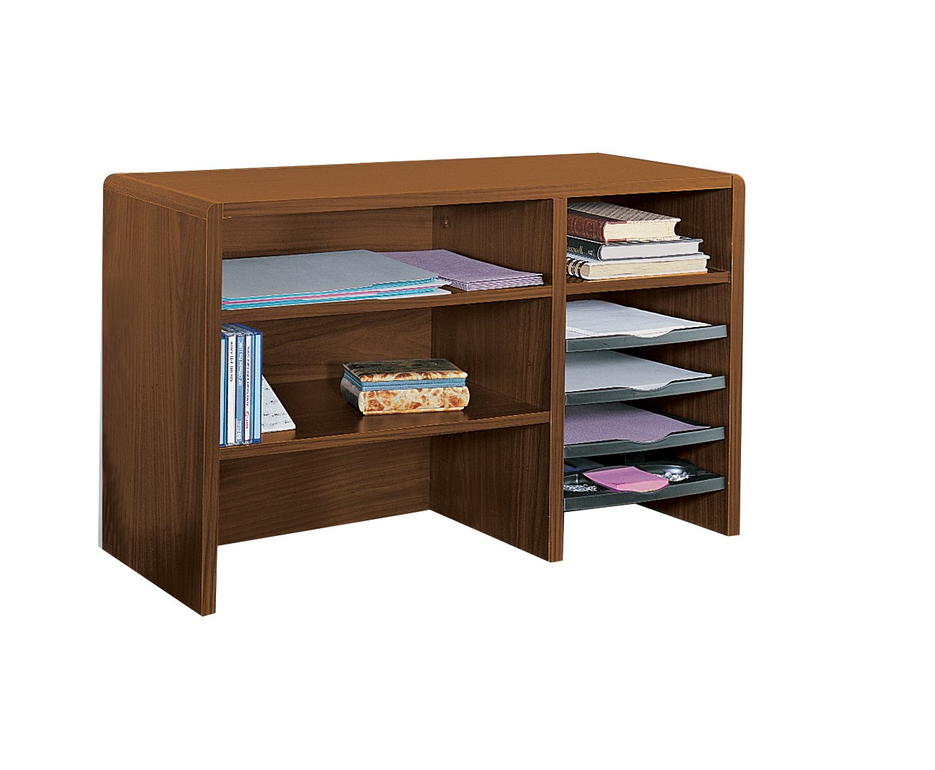 paper accessories organizers storage shelf and desk office organizer fitueyes wood workspace with products black drawers