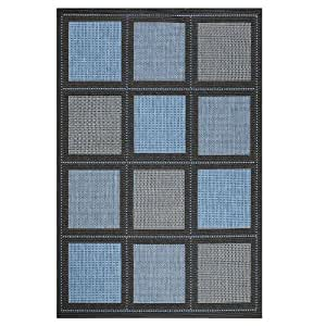 """Summit All weather Area Rug, 3'9""""x5'5"""", BLUE"""