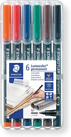 Red Pack-10 Staedtler 317 Lumocolor Permanent Pen 1.0Mm Medium Tip