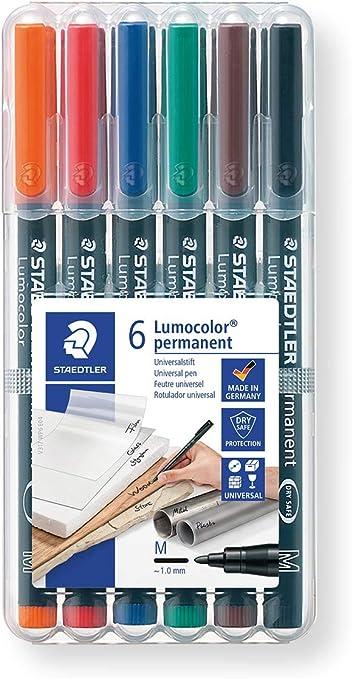 Staedtler-317 ST Estuche con rotuladores, Colores, (317 WP6): Amazon.es: Oficina y papelería