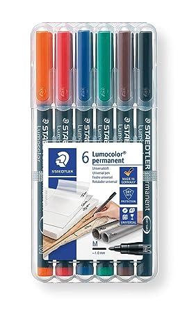 Staedtler- Lumocolor Estuche con rotuladores, Colores Surtidos (317 WP6)