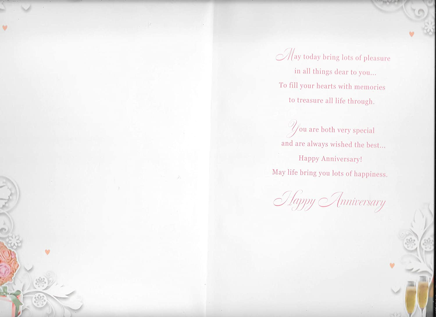 Special Sister and Brother in Law ON Your Anniversary Card***Large 7 X 11 INCHES***1ST Class Post***AC8**