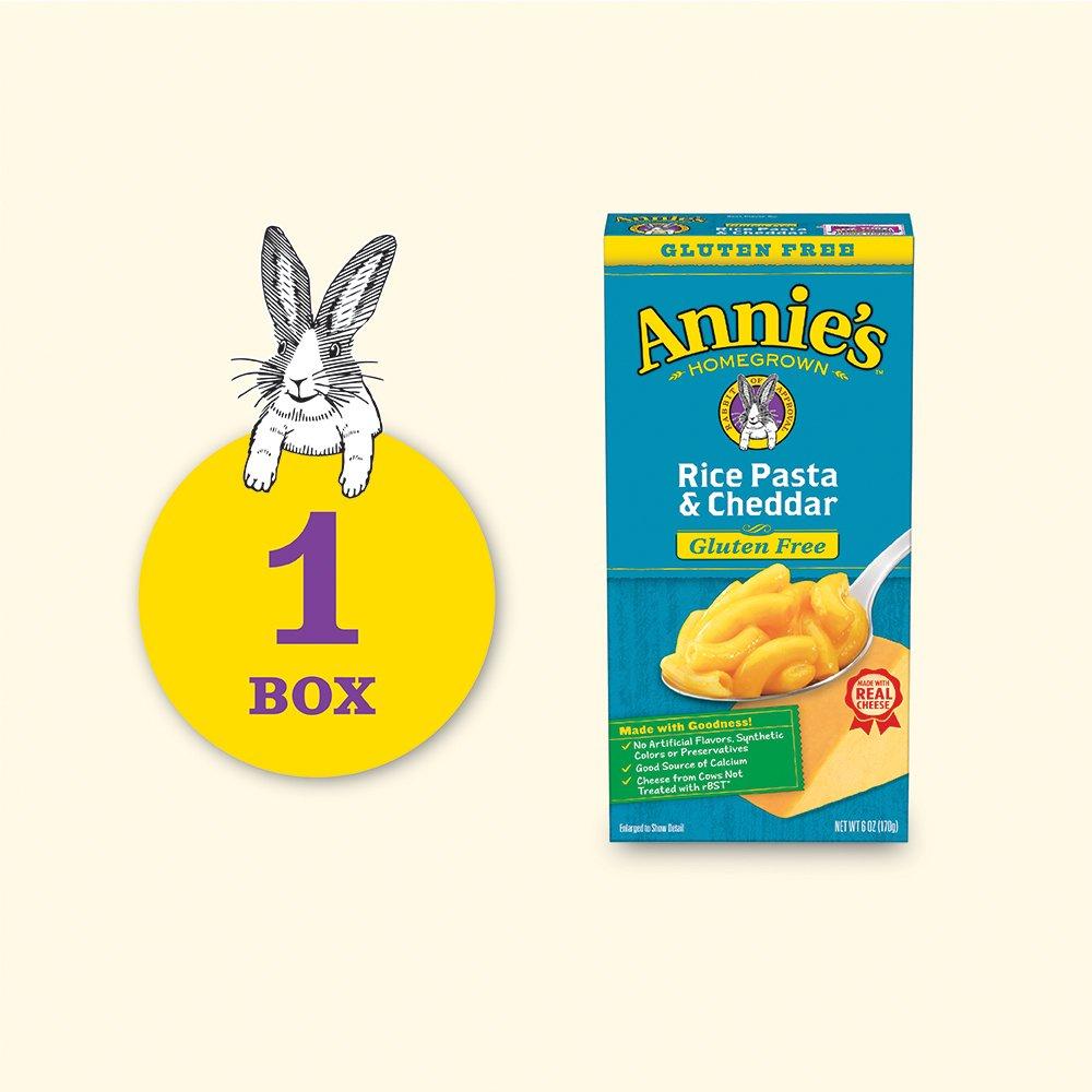 innovative design c292b 120e4 Amazon.com  Annie s Gluten Free Macaroni and Cheese, Rice Pasta   Cheddar Mac  and Cheese, 6 oz Box  Prime Pantry