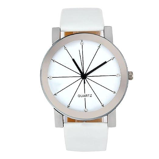 2016 Nueva llegada Moda Hombres Reloj De Pulsera, Lookatool® hombres cuarzo dial reloj cuero muñeca reloj redondo caso: Amazon.es: Relojes